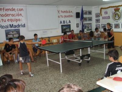 PEÑA MADRIDISTA ABULENSE. Campeonato  de TENIS DE MESA