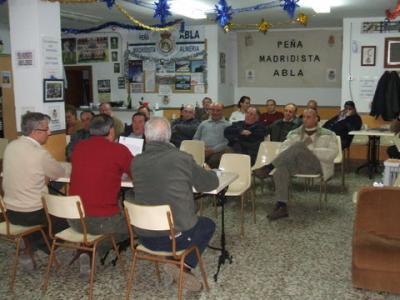 PEÑA MADRIDISTA ABULENSE. Asamblea General.