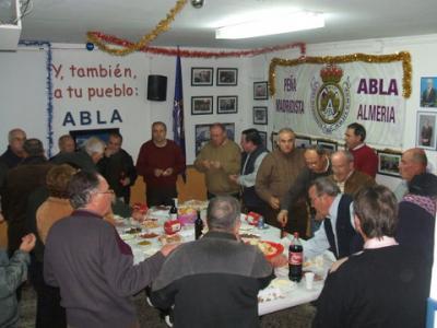 PEÑA MADRIDISTA ABULENSE. Vino de Navidad.29/12/2007