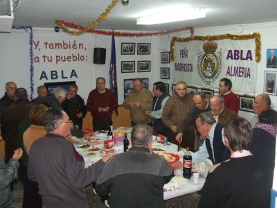 PEÑA MADRIDISTA ABULENSE. Asamblea General y vino de Navidad. 27/12/2008