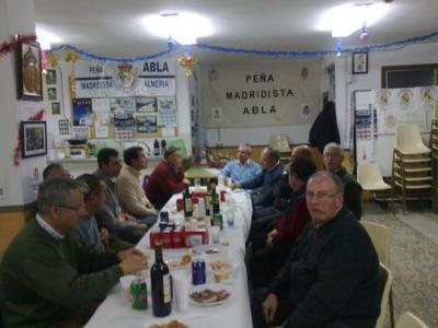 Peña  Madridista Abulense. Vino de Navidad. 26/12/2009