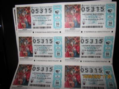 PEÑA MADRIDISTA ABULENSE. Loteria de Navidad. 10/08/2010