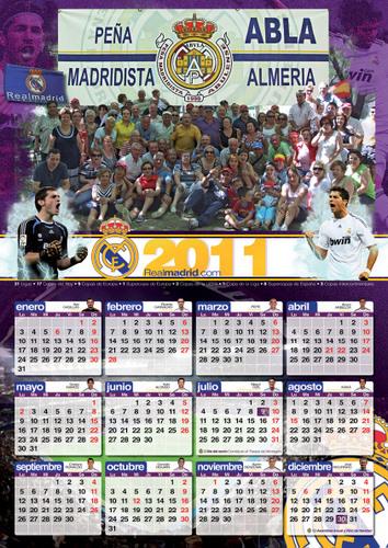 PEÑA MADRIDISTA ABULENSE. 21/12/2010. Calendario.
