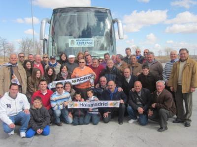 PEÑA MADRIDISTA ABULENSE. Viaje al Real Madrid-Málaga.18-03-2012