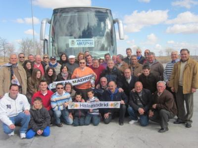 PEÑA MADRIDISTA ABULENSE. Viaje al Real Madrid-Real Zaragoza. 3 ó 4 de Noviembre 2012